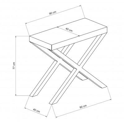 Console fixe Cross en folding stratifié