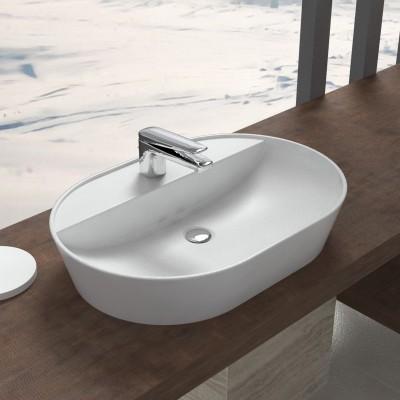 Lavabo in ceramica da appoggio Elegance 60