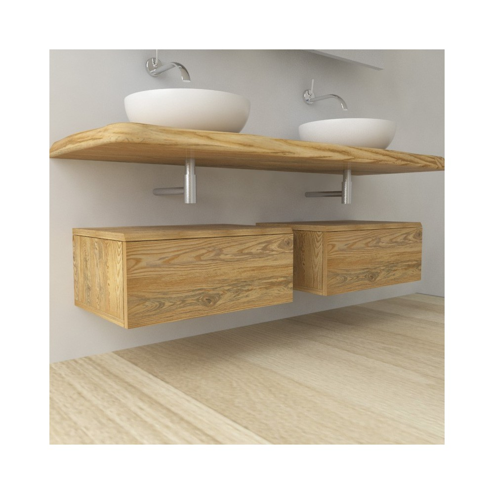 Drawers in solid wood - irregular edge
