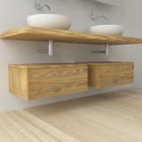 Sequoia - Mobile completo arredo bagno in legno massello
