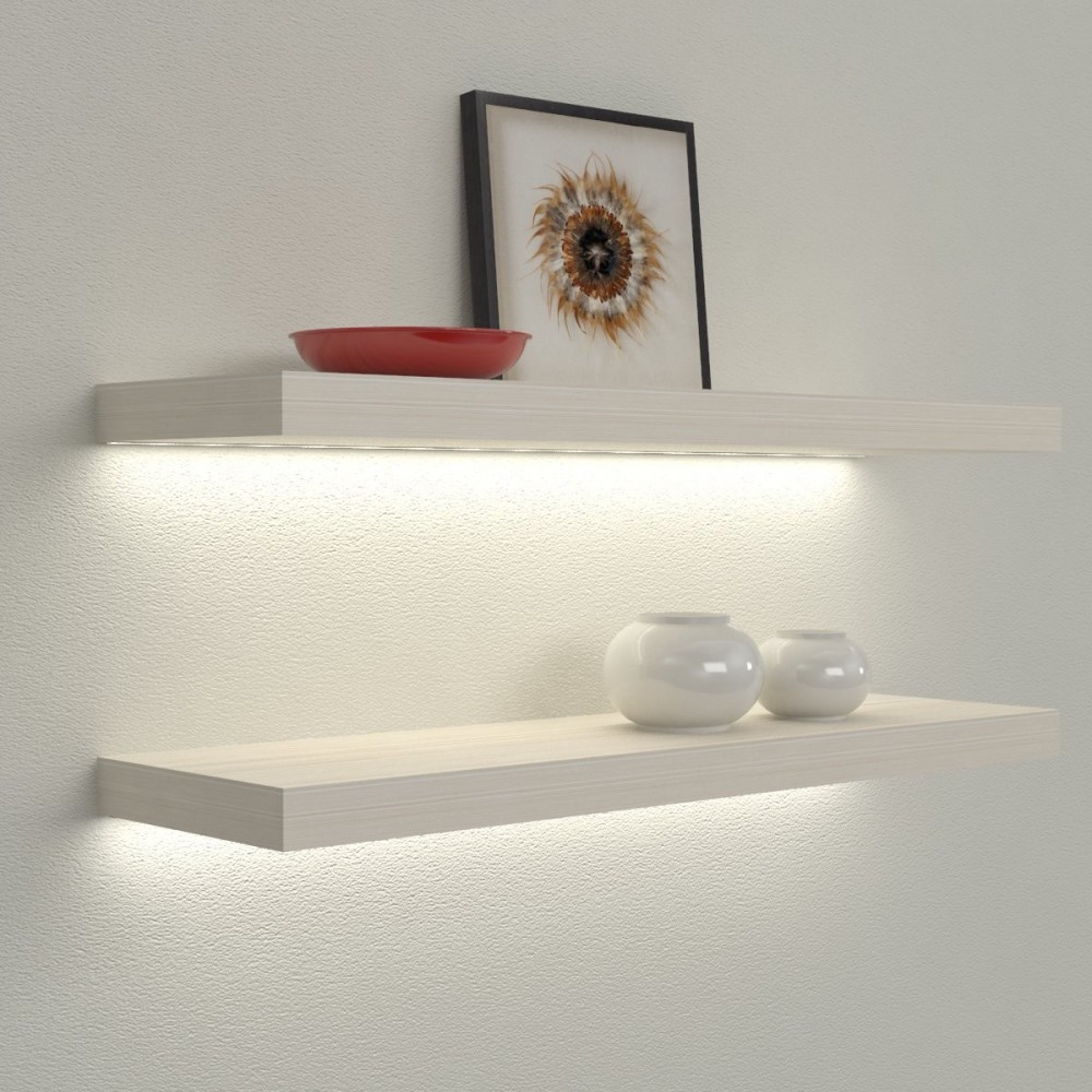 Mensole luminose mensole led mensole illuminate for Mensole design bagno