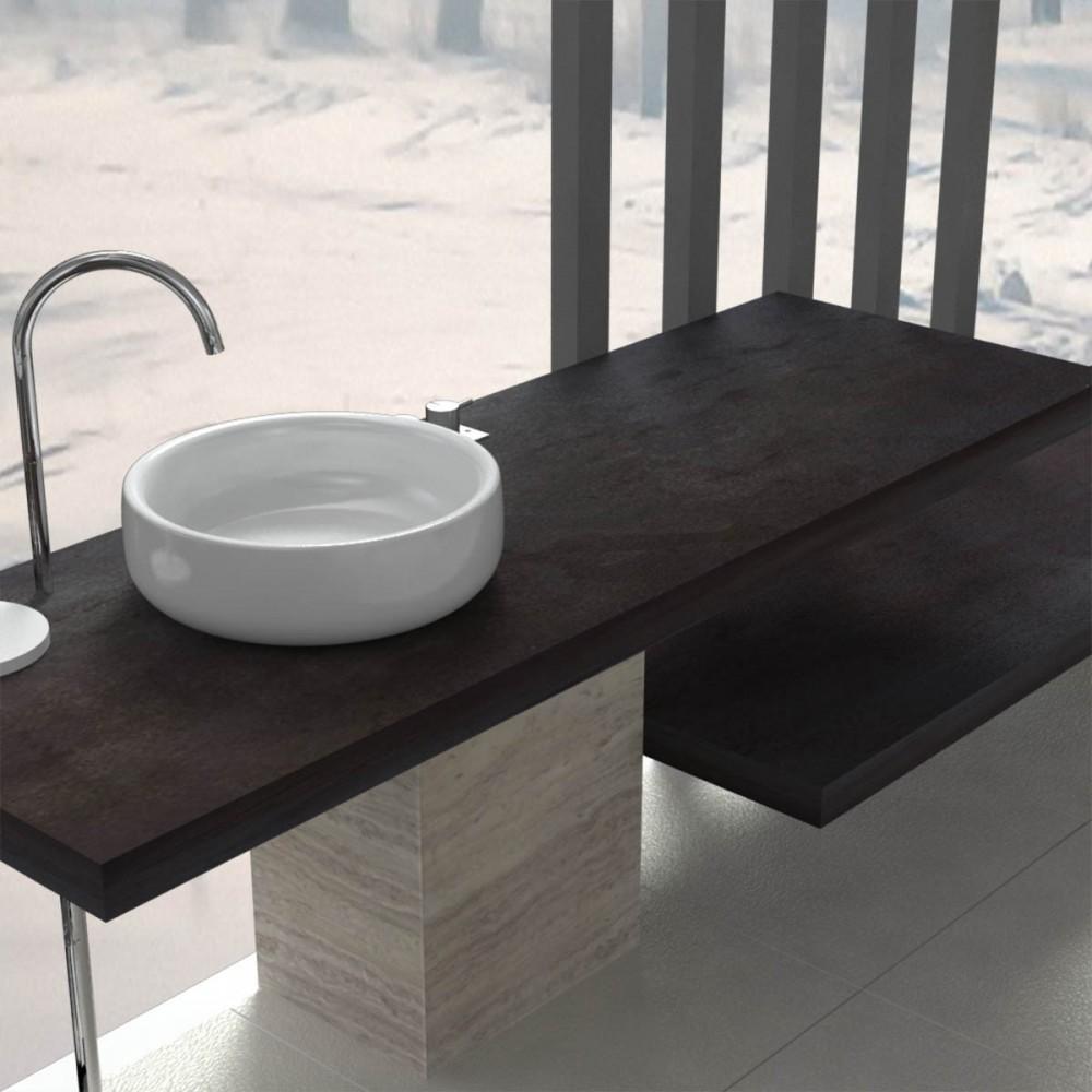 Meuble salle de bain tablette salle de bain for Console de salle de bain