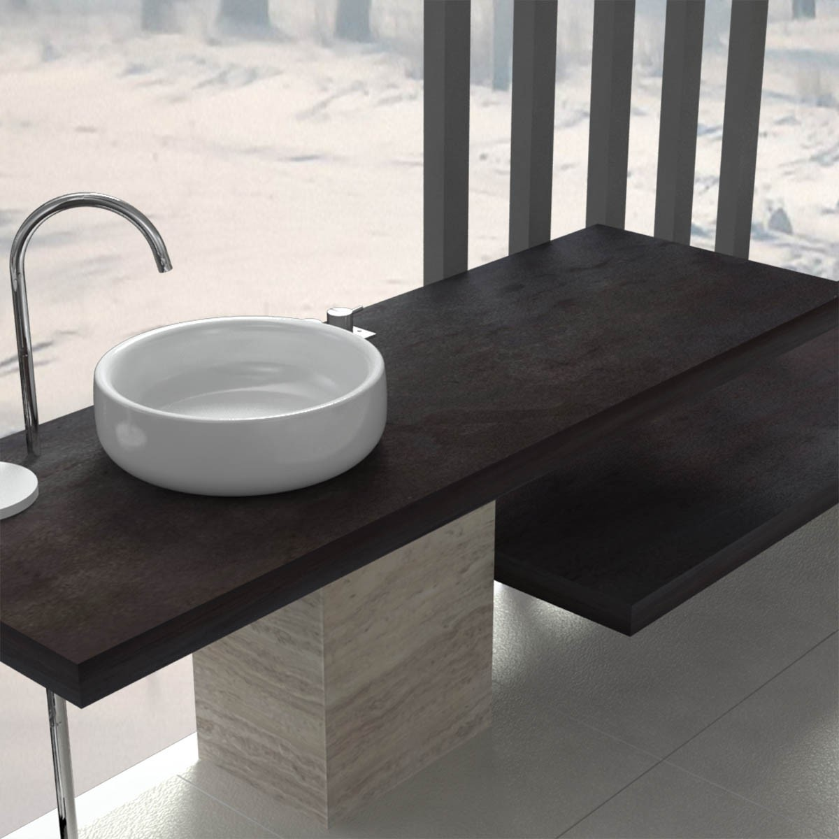 100 porte serviettes de salle de accessoires de for Console de salle de bain