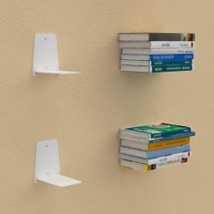 """L"" invisible Shelves for books"