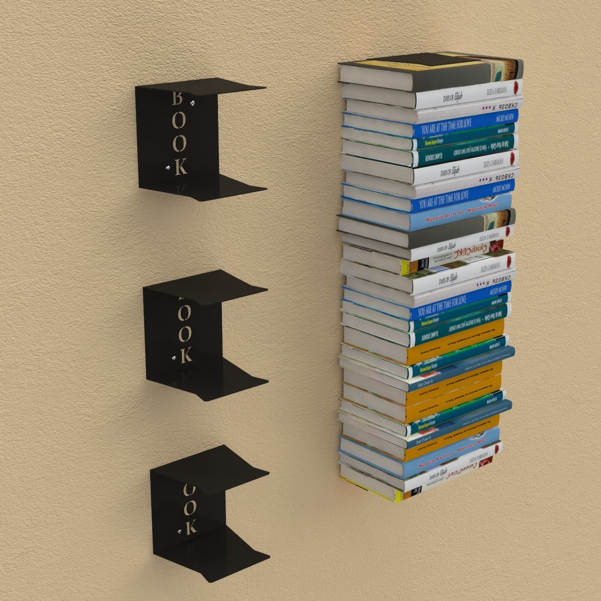 Wandregal bücher unsichtbar  Wandregal für Bücher - Versteckte Wandregale