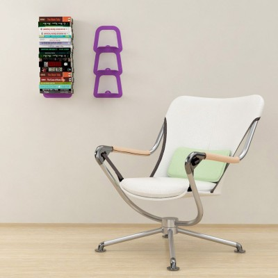 Etagere livre invisible 3 supports