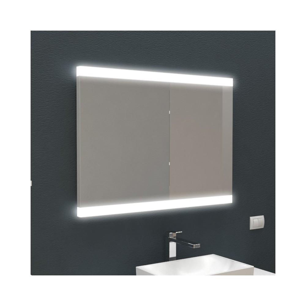Specchio retroilluminato con bordo led specchi specchiere - Specchio retroilluminato bagno ...