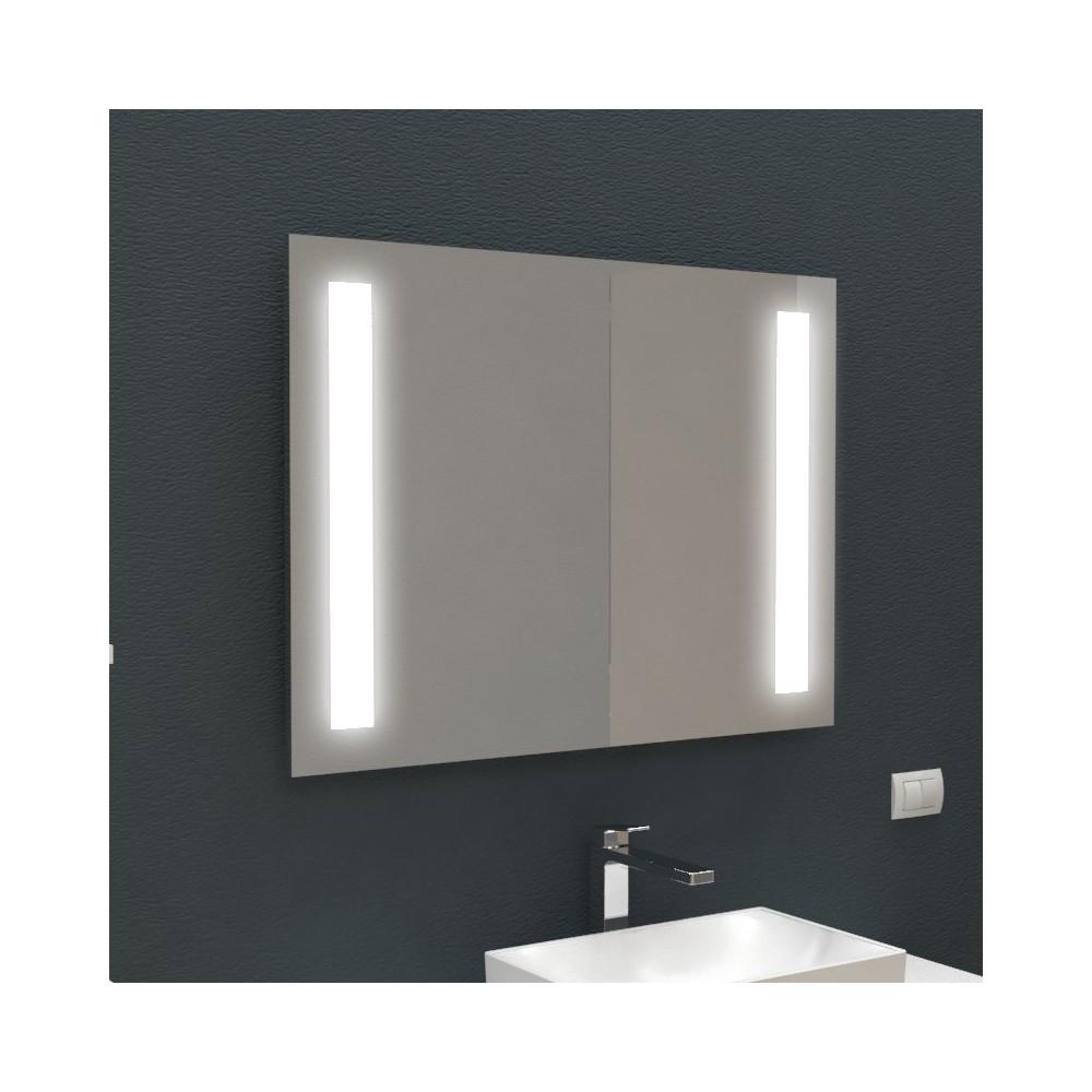Specchio retroilluminato con fasce interne led specchiere - Specchi retroilluminati per bagno ...