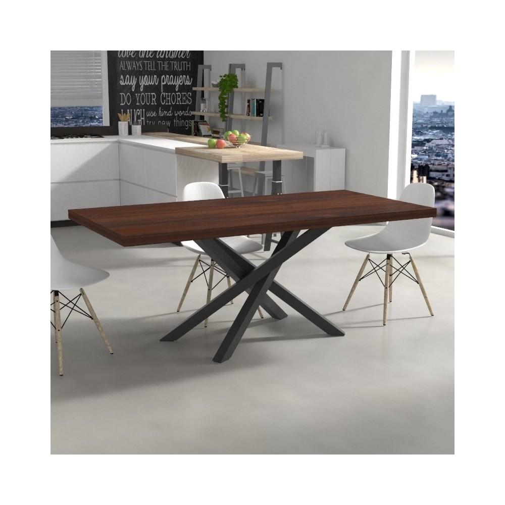 Table de cuisine table de cuisine polinesia en bois massif - Table de cuisine en bois massif ...