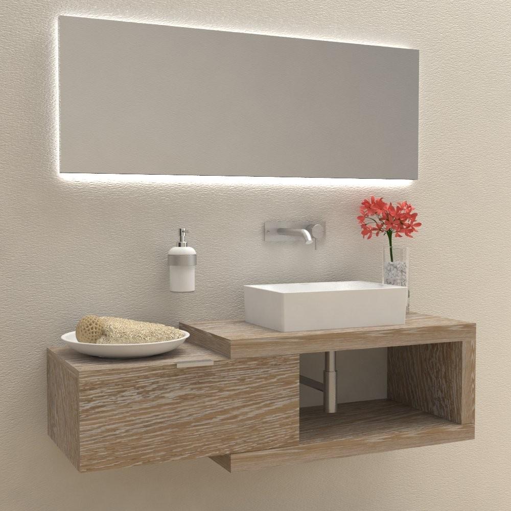 Mobili e arredo bagno in legno massello arena 60 mobile for Arredo bagno legno naturale