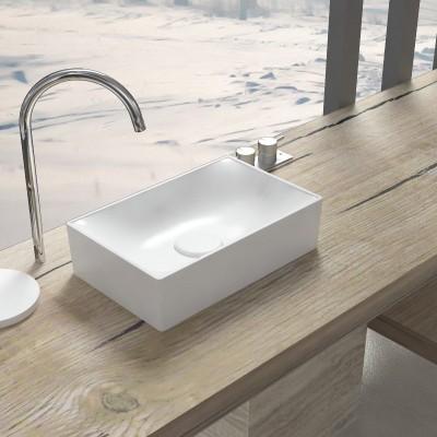Arena 60 in legno massello - Mobile completo arredo bagno