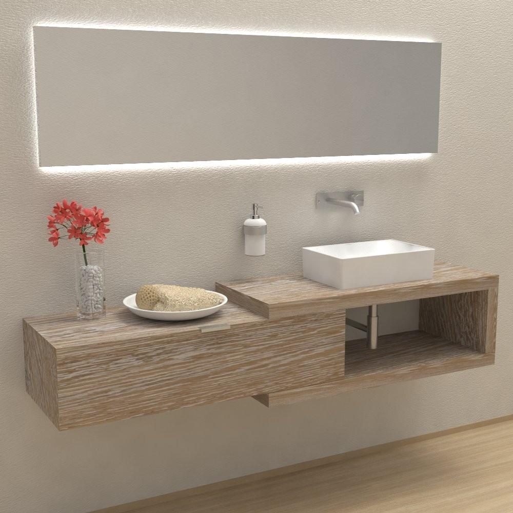 Arena 100 in solid wood - Complete bathroom furniture