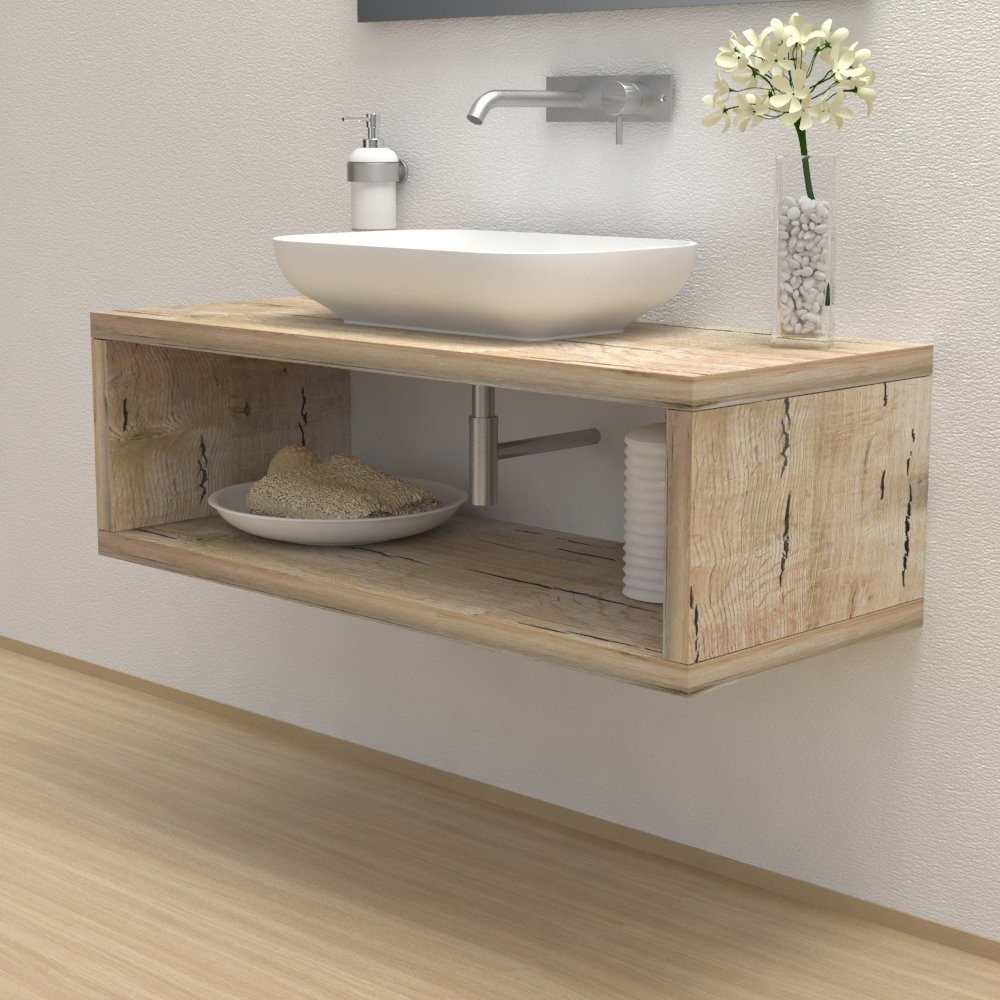 Wash basin shelf with storage compartment