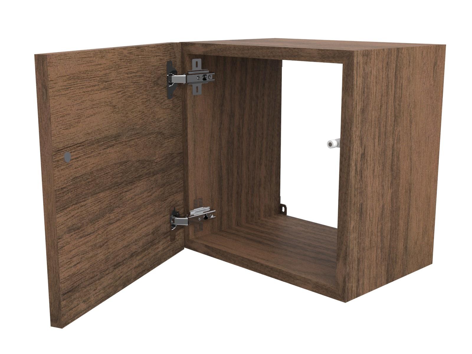Cubi in legno 35x35 cm arredo design con sportello e for Cubi in legno arredamento