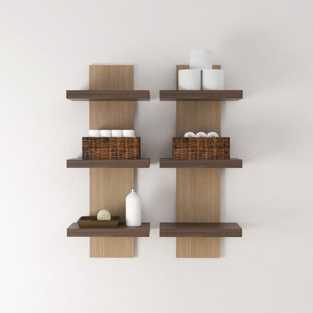 Mensola design mensola arredo bagno in legno in diverse for Mensole bagno design