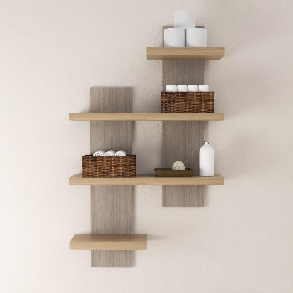 Mensole in legno mensola moderna anche su misura spessore 4 cm arredamento casa ebay - Portaoggetti da parete ikea ...