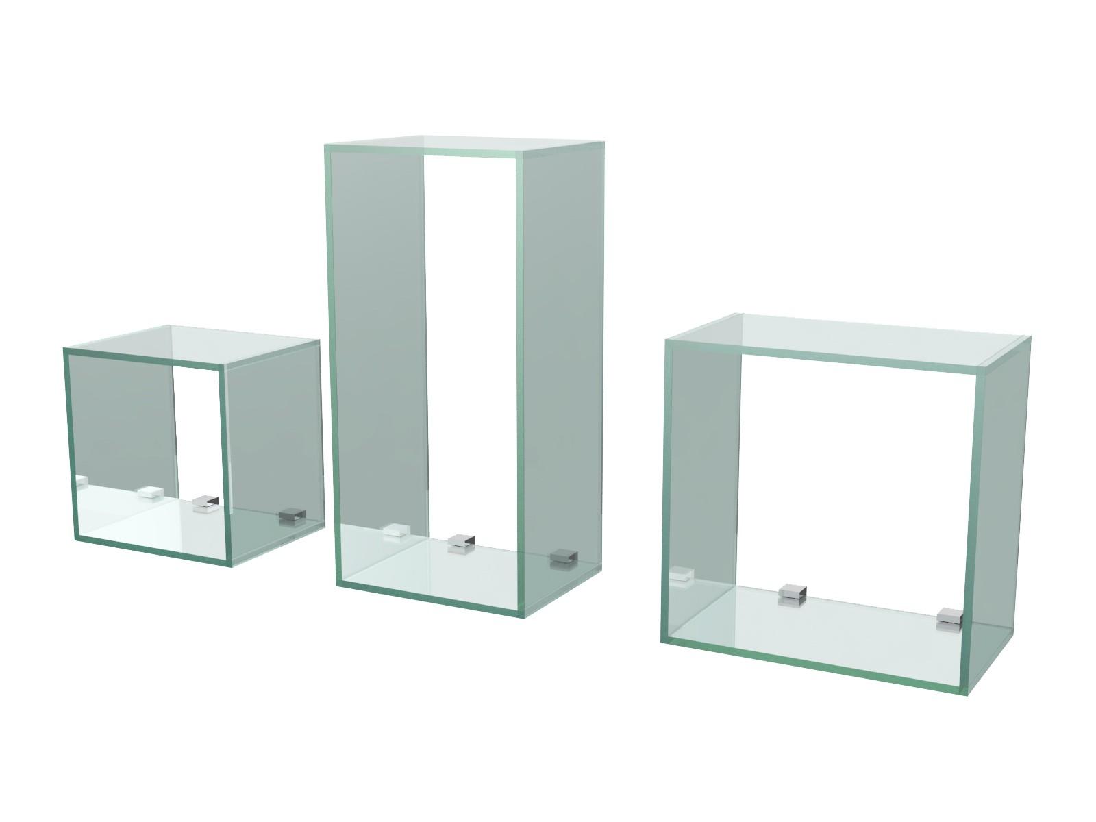 Mensole design cubi in vetro in diverse misure inclusi supporti ebay - Mensole in vetro per soggiorno ...