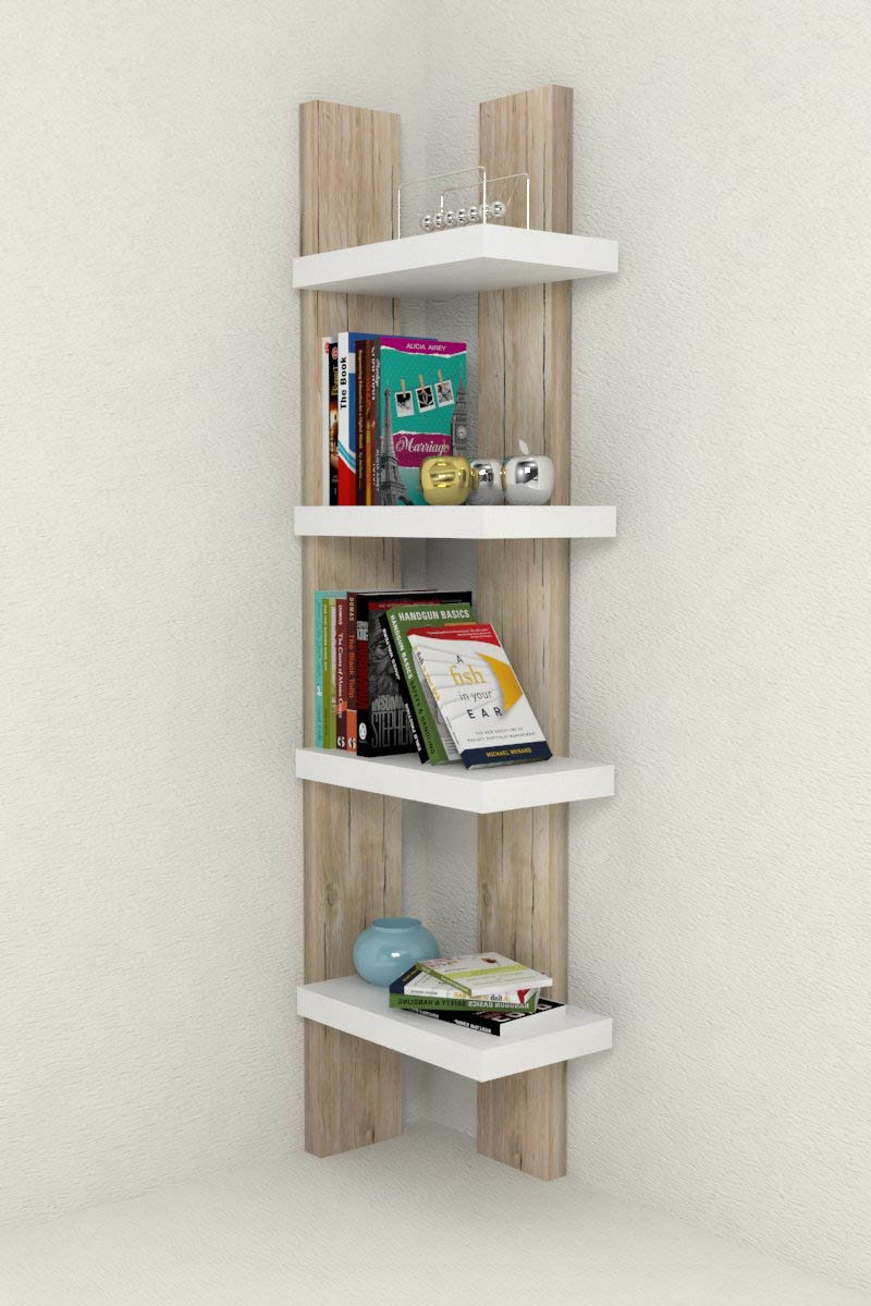 Libreria design chloe in legno 4 cm libreria ad angolo arredo in diversi colori ebay - Libreria soggiorno design ...