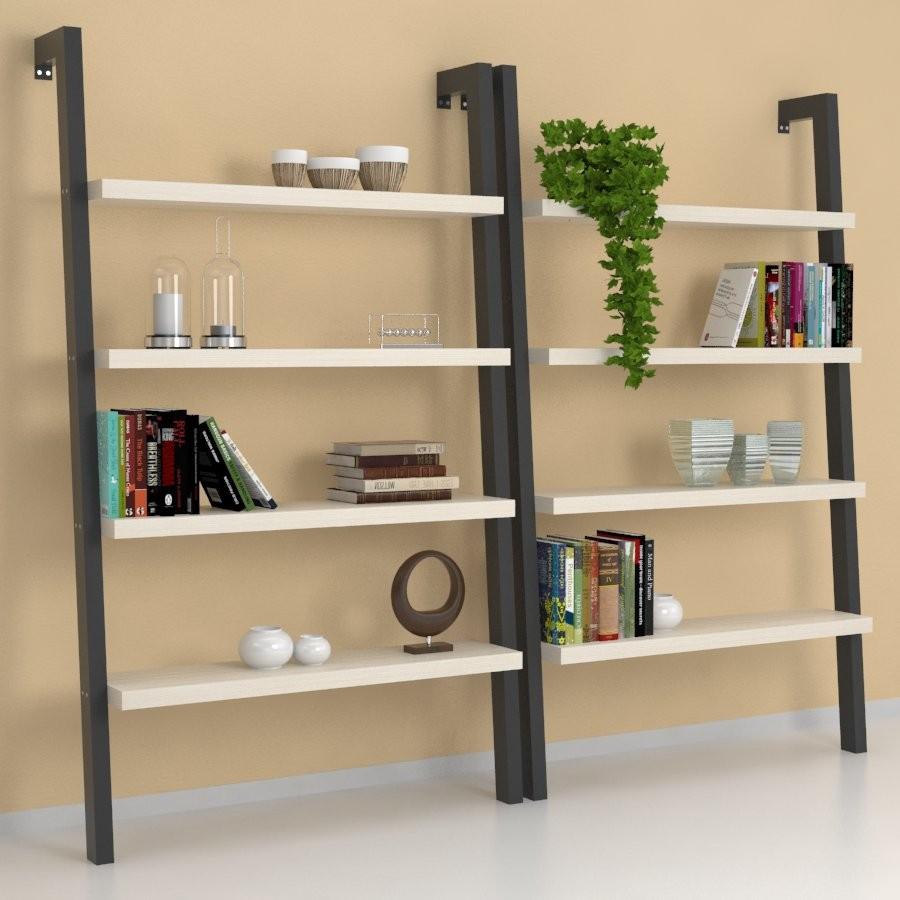 Libreria design deb con struttura in acciaio e legno for Libreria ufficio