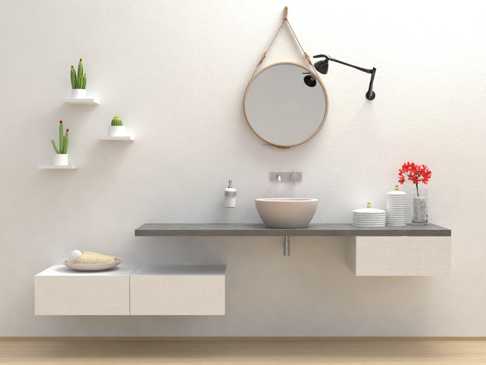Mensola design mensola arredo bagno in legno in diverse colorazioni ebay - Bagno arredo design ...