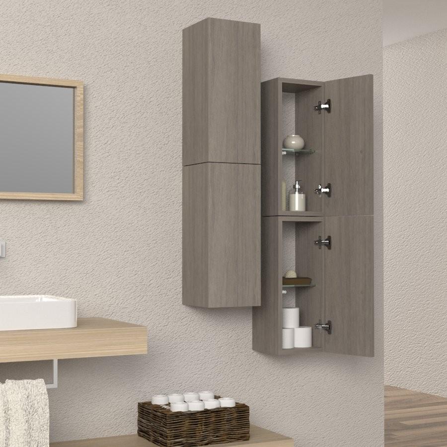 Colonna sospesa arredo bagno e soggiorno design in legno - Mobili porta asciugamani bagno ...