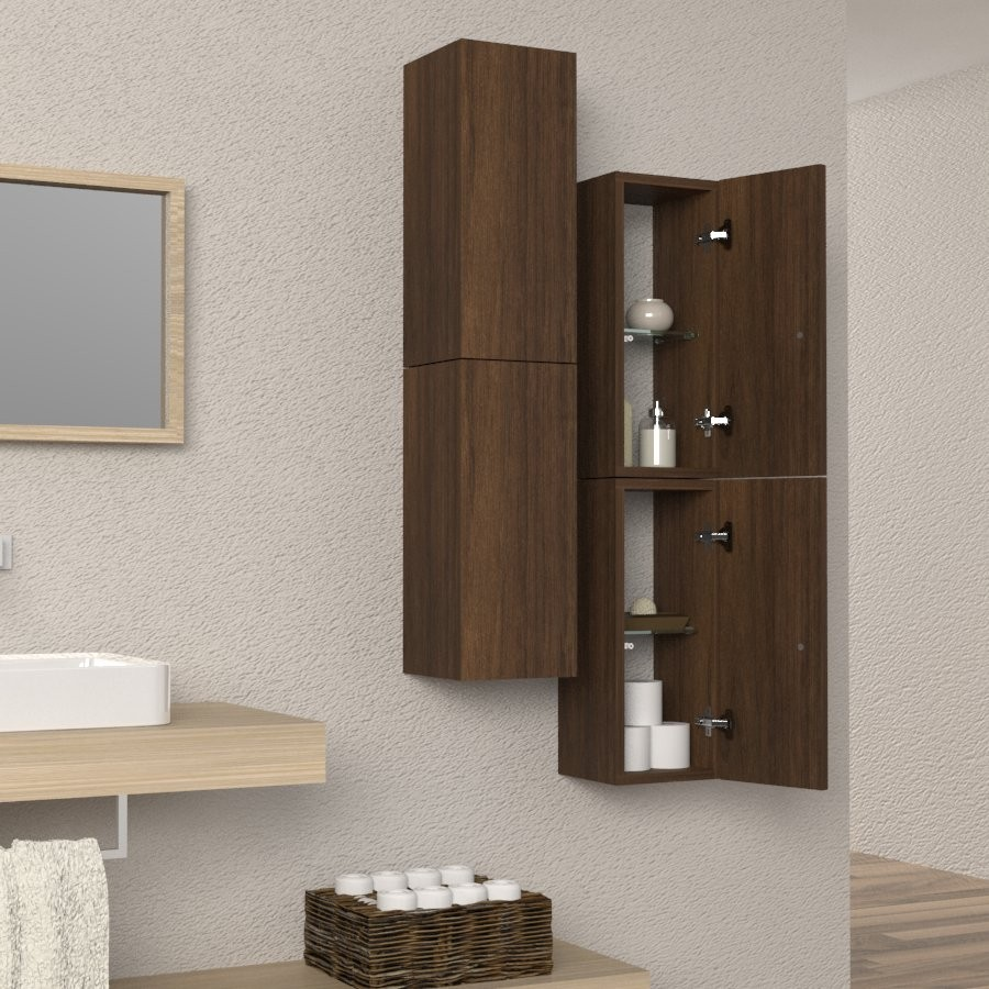 Colonna sospesa arredo bagno e soggiorno design in legno for Colonna arredo bagno